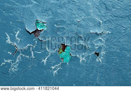 Peeling paint texture,dark blue peeling paint on the texture concrete background,peeling paint background with fissures on the texture surface,peeling paint texture,peeling paint texture background