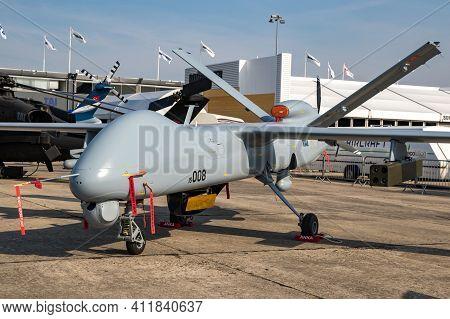 Tai Anka Uav Developed By Turkish Aerospace Industries (tai) On Display At The Paris Air Show. Franc
