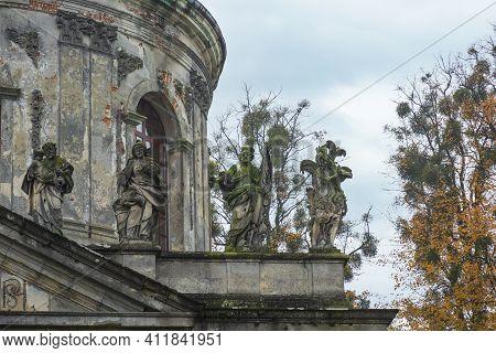 Roman Catholic Church Of Saint Joseph Located In The Village Of Pidhirtsi In Lviv Region, Ukraine. R