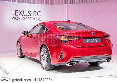 Lexus Rc 300h Car World Premiere At The Paris Motor Show. France - October 3, 2018