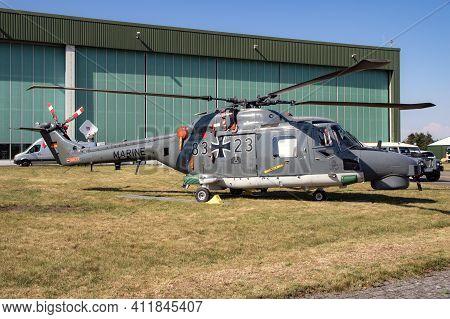 German Navy Westland Lynxhelicopter At Nordholz Airbase. Germany - June 14, 2019