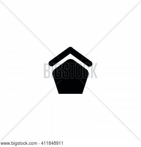 Home Flat Icon. Web Page Home Button. Building Sign. Logo Design Element
