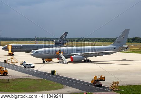 Airbus A330 Mrtt (kc-30a) And The Older Kdc-10 Extender Tanker Transport Aircraft Of The Royal Nethe
