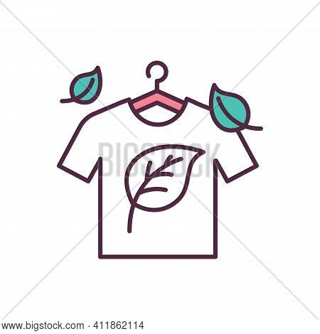 Natural Fabrics Rgb Color Icon. Organic, Earth-friendly Fabric. Eco-friendly Clothes. Natural Fibres