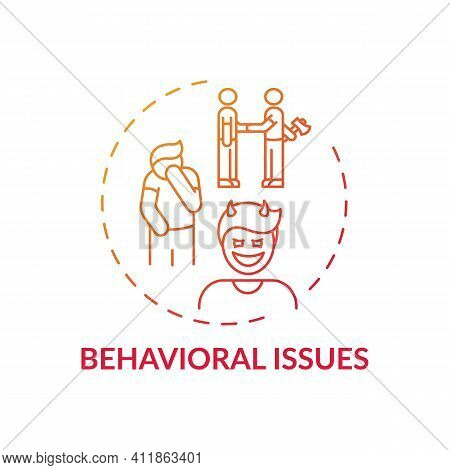 Behavioral Issues Concept Icon. Online Family Therapy Types. Curing Family Diseases. Behavioral And