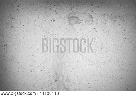 White Grunge Cement Or Concrete Painted Wall Texture. The Cement Wall Background Abstract Gray Concr