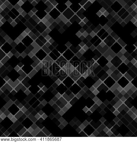 Vector Patchwork Background With Dark Grey And Black Tiles Geometric Ornament