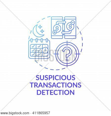 Transactions Detection Concept Icon. Stealing Money Idea Thin Line Illustration. Terrorist Financing