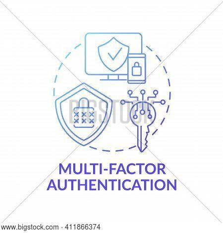 Multi-factor Authentication Concept Icon. Computer Access Control Method Idea Thin Line Illustration