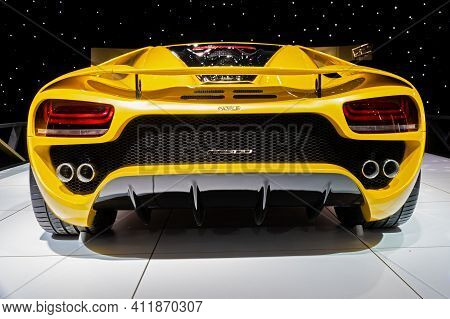 Brussels - Jan 18, 2019: Noble M500 Sports Car Showcased At The 97th Brussels Motor Show 2019 Autosa