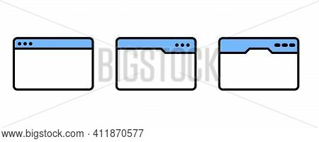 Web Page Icon. Web Page Set Line Icons In Flat Design