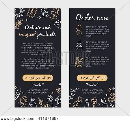 Flyer For A Magic And Witchcraft Shop