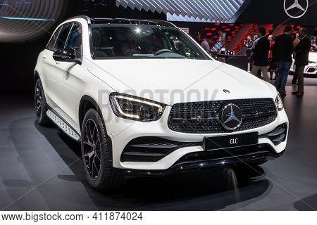 Geneva, Switzerland - March 6, 2019: New 2020 Mercedes Benz Glc Car Debuts At The 89th Geneva Intern