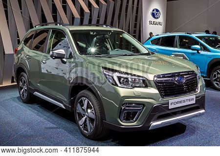 Subaru Forester Suv Car At The 89th Geneva International Motor Show. Geneva, Switzerland - March 5,