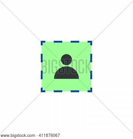 Profile Icon. Person Symbol. Social Media Photo Box. Fake User Profile.