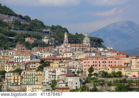 Small Town Vietri Sul Mare In Campania Italy