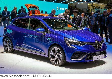 New Renault Clio Car At The 89th Geneva International Motor Show. Geneva, Switzerland - March 6, 201
