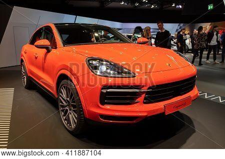 Frankfurt, Germany - Sep 10, 2019: New 2020 Porsche Cayenne S Coupe Car Showcased At The Frankfurt I