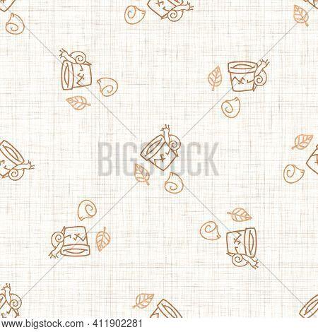 Seamless Background Snail Gender Neutral Pattern. Whimsical Minimal Earthy 2 Tone Color. Kids Nurser