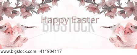 Easter Eggs. Happy Easter Card. Multicolored Easter Eggs. Easter. Easter Background. Easter Eggs. Ea