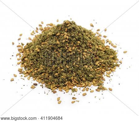 zaatar,  middle eastern herb spice mixture