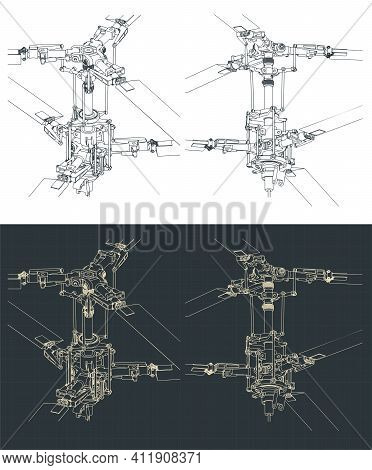 Helicopter Coaxial Main Rotor Drawings