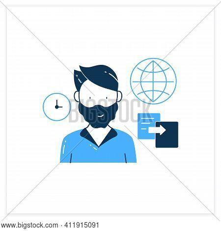Data Duplication Flat Icon. Ease Duplication Data Across The Internet. Copied Information, Plagiaris