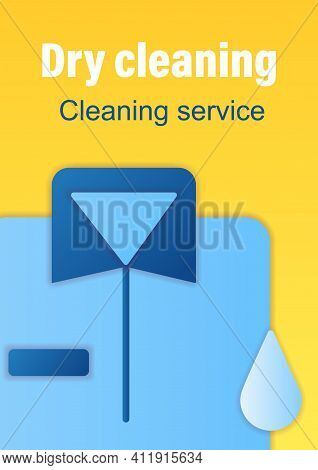 Dry Cleaning Brochure. Laundry Service Template. Flyer, Magazine, Poster, Book Cover, Booklet. Ironi