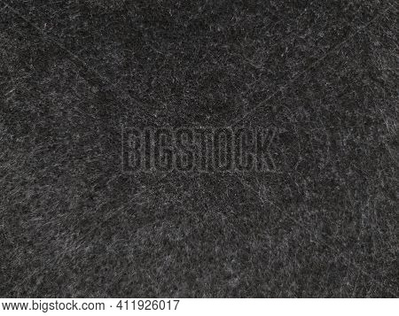 Dark Gray Background Of Fleecy Artificial Carpeting Material