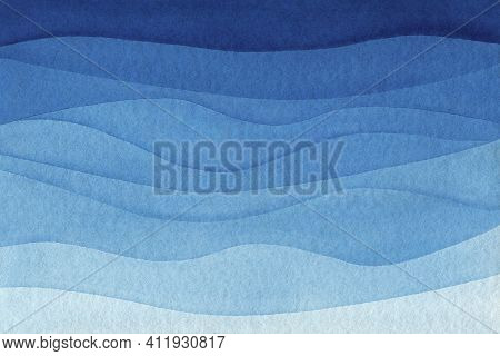 Blue Azure Turquoise Abstract Watercolor Background For Textures Backgrounds And Web Banners Design.