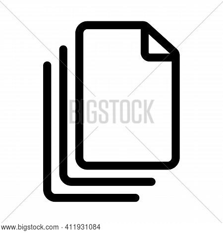 A Stack And Many Documents Or A Selection Of Several Outline Icon Isolated On White Background.