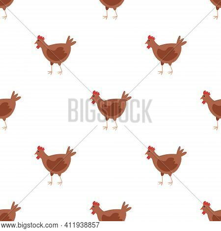 Seamless Vector Pattern With Pet Birds On A White Background. Background For Textiles, Covers, Scree