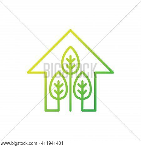 Green Eco Home Logo Icon Vector. Ecology House icon. Eco House icon. Eco House vector, Eco House icon vector, Eco House logo, Eco Home icon vector. Eco House vector icon symbol for website, logo, app. Eco House icon isolated on white background