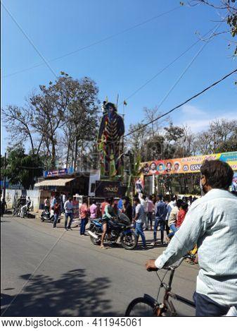 Closeup Of Kannada Actor Challenging Star Darshan, Roberrt Romance And Adventures Movie Hero Cutout