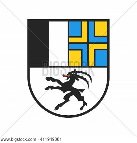Swiss Canton Coat Of Arms, Switzerland Heraldry Sign And Shield Flag, Vector. Swiss Canton Sign Of G
