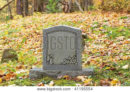 Old child's gravestone tombstone