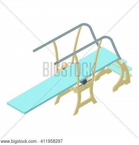 Plunge Diving Board Icon. Isometric Of Plunge Diving Board Vector Icon For Web Design Isolated On Wh