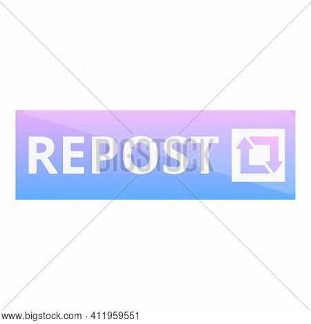 Repost Video Icon. Cartoon Of Repost Video Vector Icon For Web Design Isolated On White Background