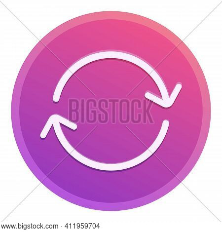 Repost Arrow Circle Icon. Cartoon Of Repost Arrow Circle Vector Icon For Web Design Isolated On Whit
