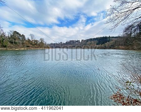 The Reuss River Between The Hermetschwil Monastery (kloster Hermetschwil) And The Hydroelectric Dam
