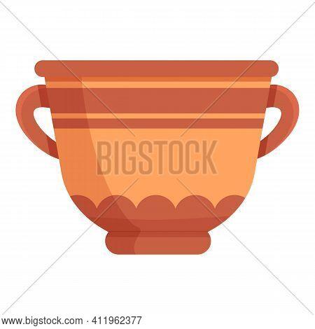 Amphora Ceramic Icon. Cartoon Of Amphora Ceramic Vector Icon For Web Design Isolated On White Backgr
