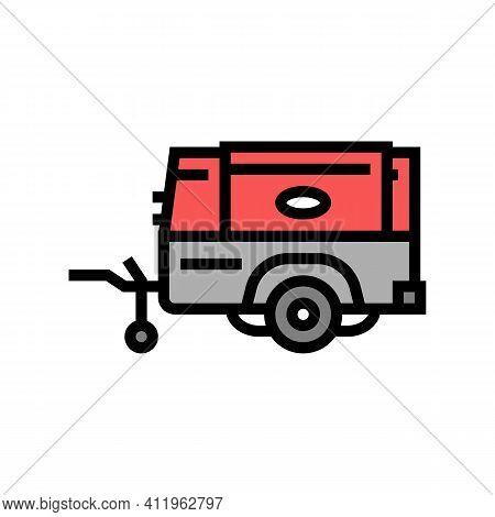 Diesel Air Compressor Color Icon Vector. Diesel Air Compressor Sign. Isolated Symbol Illustration