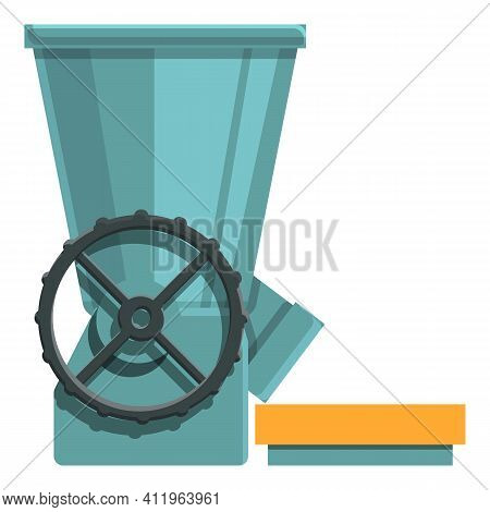 Coffee Factory Grinder Icon. Cartoon Of Coffee Factory Grinder Vector Icon For Web Design Isolated O