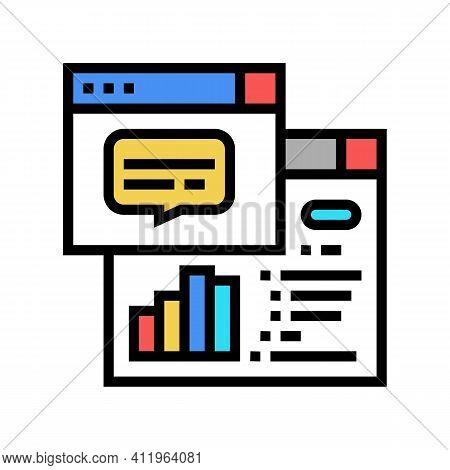 Tasks Hierarchy Digital Processing Color Icon Vector. Tasks Hierarchy Digital Processing Sign. Isola