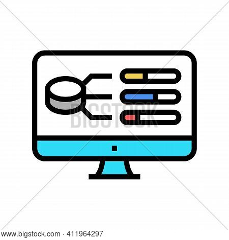 Model Selection Digital Processing Color Icon Vector. Model Selection Digital Processing Sign. Isola