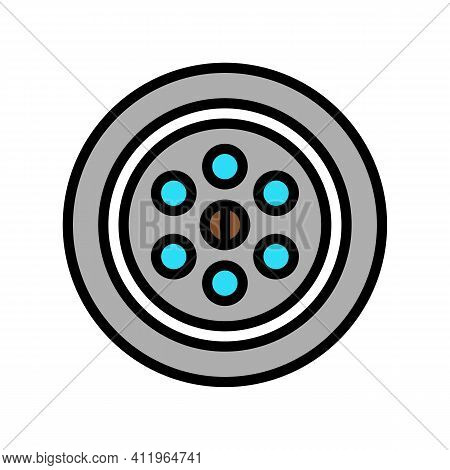 Sink Drainage Hole Color Icon Vector. Sink Drainage Hole Sign. Isolated Symbol Illustration