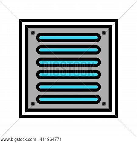 Bathroom Drainage Hole Color Icon Vector. Bathroom Drainage Hole Sign. Isolated Symbol Illustration