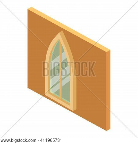 Gothic Window Icon. Isometric Illustration Of Gothic Window Vector Icon For Web
