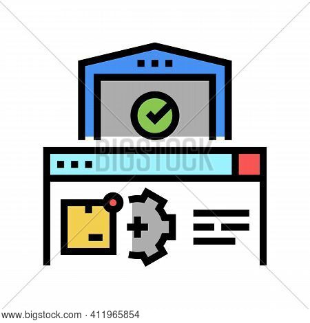 Storehouse Logistics Process Color Icon Vector. Storehouse Logistics Process Sign. Isolated Symbol I