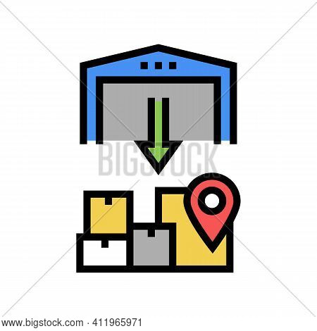 Upload From Storehouse Color Icon Vector. Upload From Storehouse Sign. Isolated Symbol Illustration